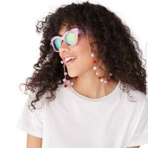Red retro sunglasses